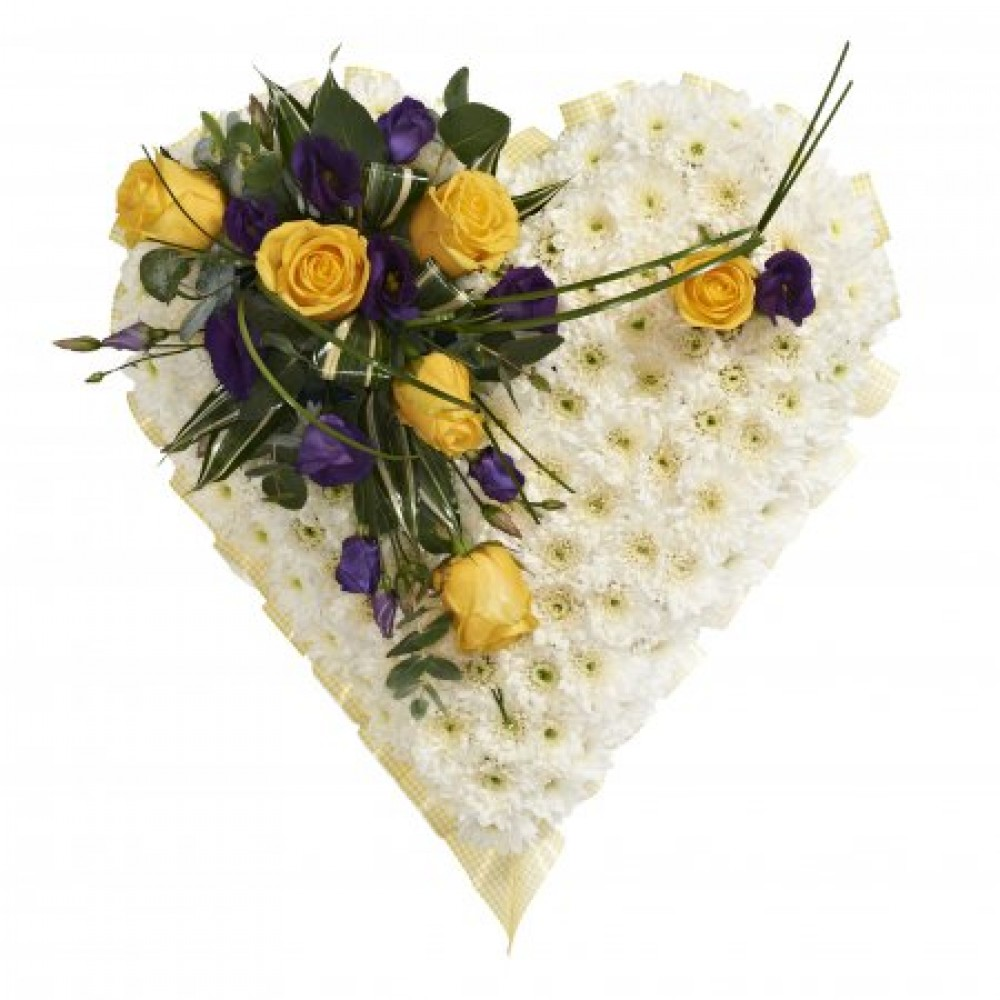Heart Shaped Tributes For Funerals And Memorials Brambles Floristry
