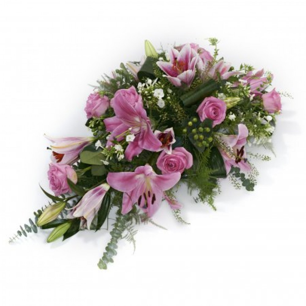 Pink Single Ended Spray Funeral Tribute Brambles Floristry
