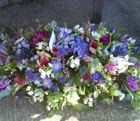 Summer Garden coffin Spray