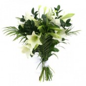 Bereavement bouquet Lilies